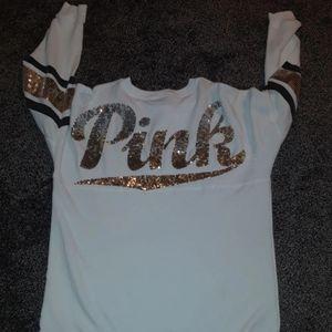 Vs pink bling long sleeve shirt